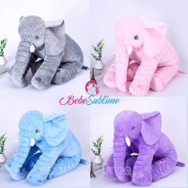 Peluche éléphant 4 couleurs différentes
