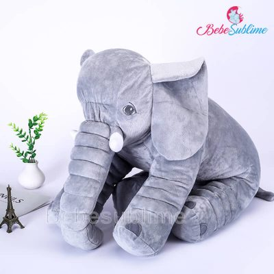 Peluche éléphant gris