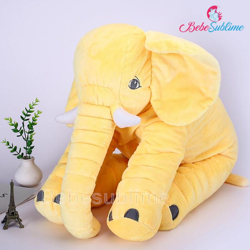 Peluche éléphant jaune