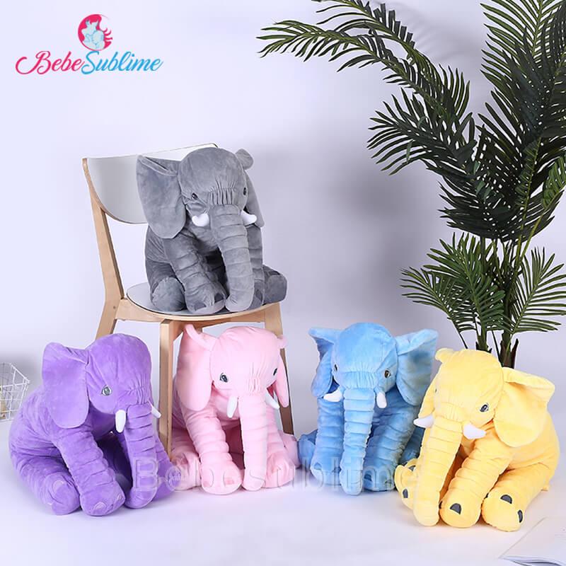 Peluche éléphant disponible en 5 couleurs