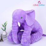 Peluche éléphant violet