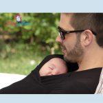 T-shirt porte-bébé et peau à peau pour papa et bébé