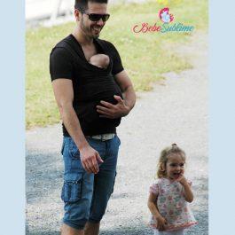 T shirt porte-bébé, T shirt de portage et peau à peau pour papa et bébé