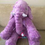 Peluche éléphant pourpre