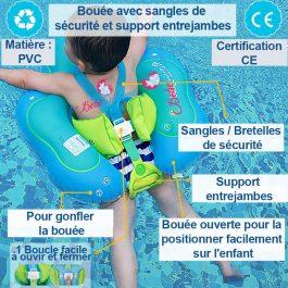Bouée de natation pour bébés / enfants avec pare soleil