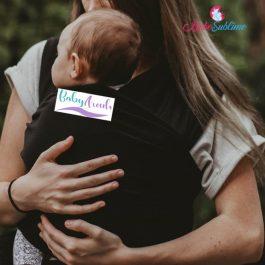 écharpe porte-bébé noir